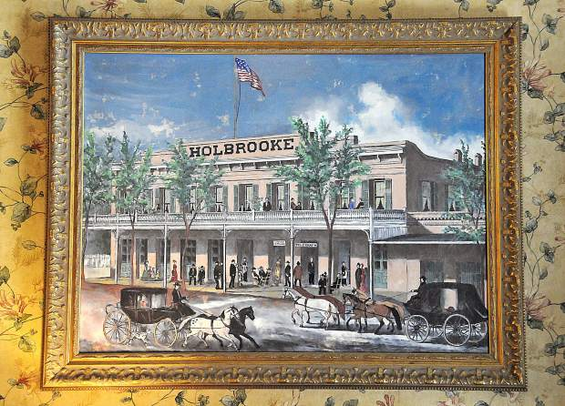 A painting in the Holbrooke depicts a bygone era in downtown Grass Valley during the hotels' more than 150 year history.