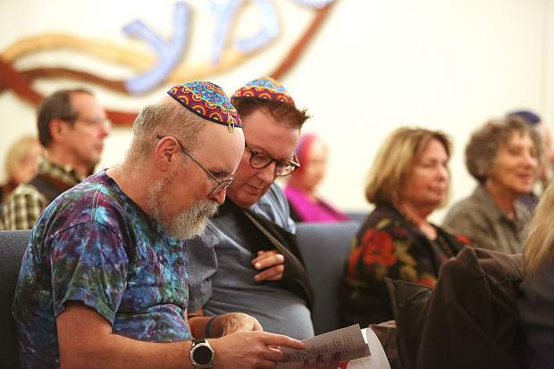 Members of Nevada County's Jewish community sat alongside those of the county's other various congregations during Friday's