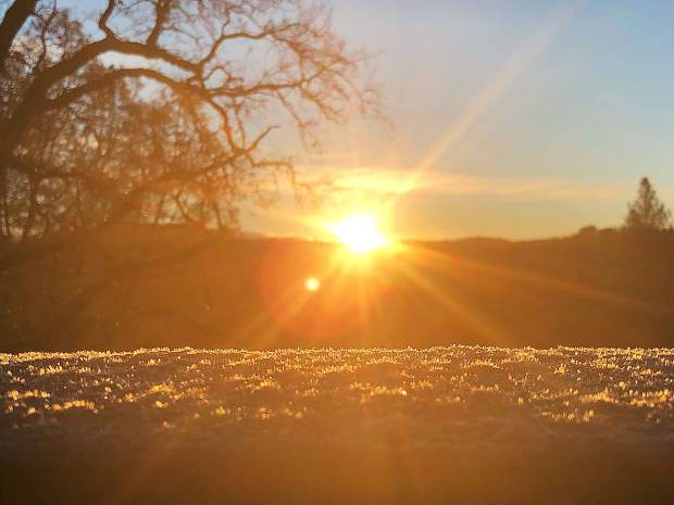 Western Nevada County welcomes the morning sun to melt the ice on roads that kept kids home from school Thursday.