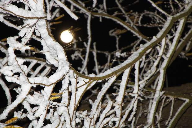 What's left of the Super Snow Moon Thursday at 3:30 a.m. - now the Waning Crescent Moon.
