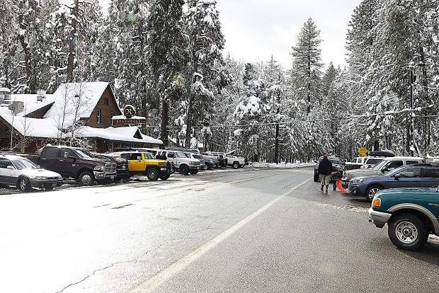 Caltrans closed Highway 20 to Interstate 80 Sunday, because I-80 was also closed. Lots of people took advantage of the snow at Harmony Ridge Market on the highway at Scotts Flat Lake Road Sunday afternoon, and at the Roadhouse.