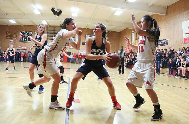 Forest Lake Christian's Lily Sween scored 17 points and pulled down 13 rebounds during Tuesday's championship game.