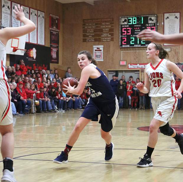 Forest Lake Christian junior Ali McDaniel (13) tallied 17 points to go with six rebounds and six assists during Tuesday evening's NorCal D-VI championship game.