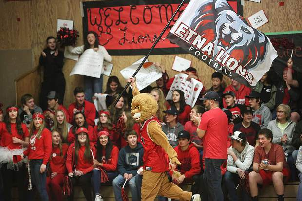 The Etna Lions home cheer squad was out in force during Tuesday's championship game in Siskiyou County.