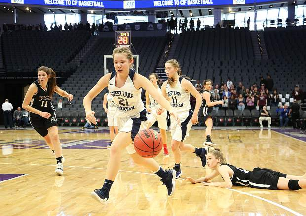 Forest Lake Christian's Ellie Wood (21) earned All-CVCL honorable mention honors.