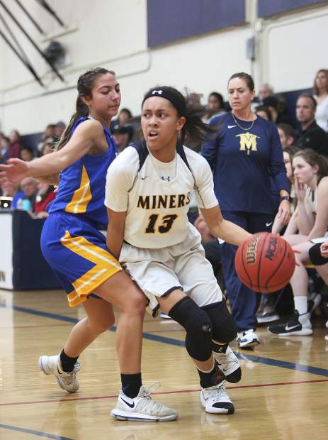 Nevada Union sophomore Aijah King (13) was named to the All-FVL First Team.