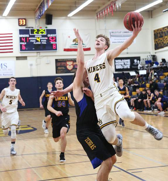 Nevada Union senior guard Ryan Werner (4) was named to the All-FVL Second Team.