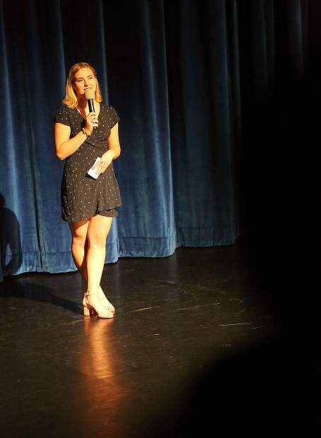 Nevada Union High School's Linden Lovett introduces her dance choreographed to the song