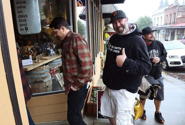 Folks were happy to be taking part in the Foothills Celebration Saturday in downtown Grass Valley.