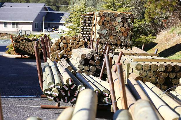 Different lengths and diameters of lodge poles are ready to fit the needs of Nevada County customers.