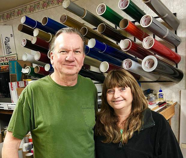 Kenny and Jeanine Hull own Sign Works in Grass Valley.
