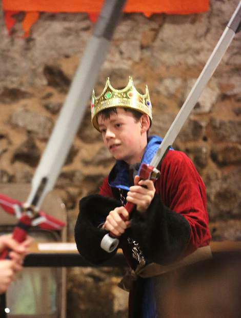 Games during the event included swordplay and jousting.
