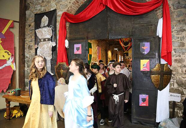 The Miners Foundry is transformed into a dark ages style setting for the annual Medieval Feast.
