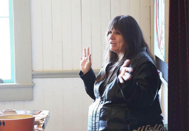 Nisenan Tribe Spokesperson Shelly Covert was also on hand during Saturday's talk with author and Nisenan Chairperson Richard B. Johnson.