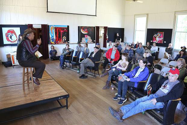 Richard B. Johnson also provided a question and answer session following his talk at the North Columbia Schoolhouse Saturday on the San Juan Ridge.