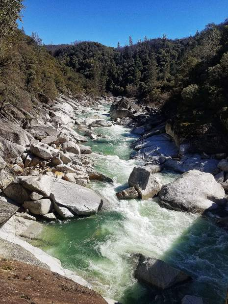 South Yuba River from the Highway 49 Bridge.