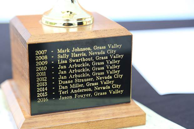The Pasty Olympics trophy will go back to Grass Valley this year after a stand in performance for Lisa Swarthout by Council member Lisa Swarthout.