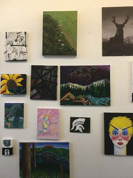 Both students, faculty and administrators have helped put together Nevada Union's art gallery. A grand opening will be held Friday.