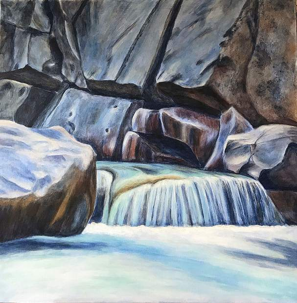 The Yuba River is the focus of this piece by local artist Michelle Jewett.