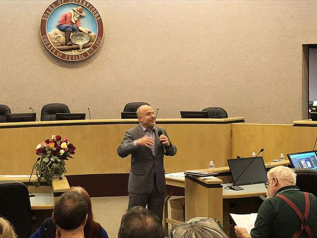 Randy Cohen was excited about the promising results of the arts expanding Nevada County's economy.