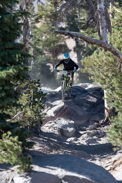 Morgan Smith, 17, has been riding her way to the podium in both her high school varsity cross country mountain bike races as well as the professional enduro circuit.