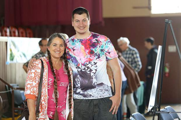 Gena Buschmann and her son Carl enjoyed the day at the Climate Action Forum.