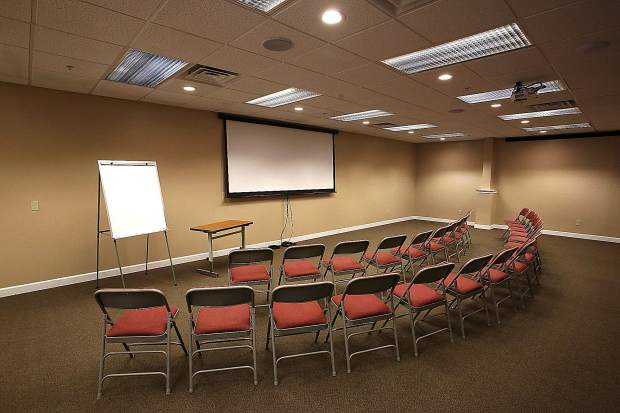 One of the Courtyard Suites' conference rooms at their downtown Grass Valley location. They have been utilized for Nugget Fringe Festival performances and can be rented for functions.