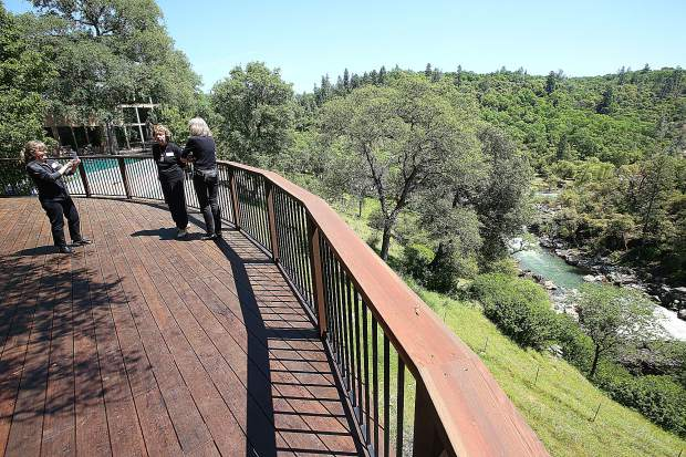 Expansive sweeping views of the Bear River are on display throughout the design of the home 'El Rincon Del Rio' on the southern most tip of the county made accessible during the annual Music in the Mountains Home Tours April 27.