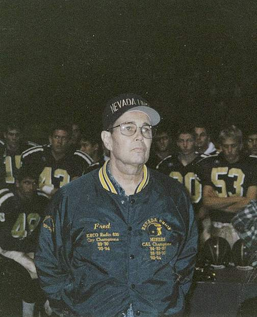 For his years of service throughout the 1980s and 90s calling the Nevada Union football games, as well as his devotion to the athletes he covered, Fred Anderson is being posthumously inducted into the Nevada Union Athletics Hall of Fame Saturday.