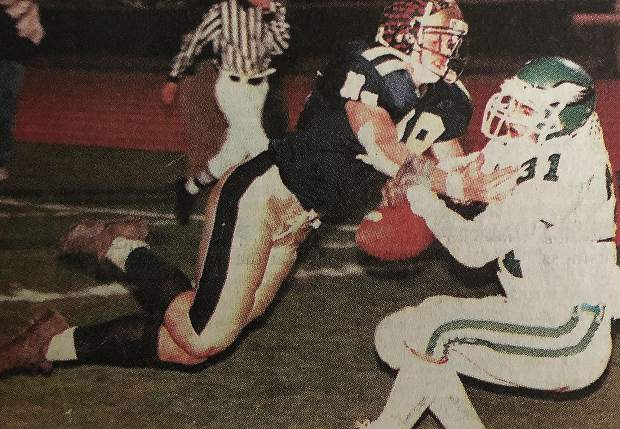 While at Nevada Union, Spencer Havner, left, tallied 232 tackles, 18 sacks, 12 interceptions and scored multiple defensive touchdowns. He earned All-Capital Athletic League honors twice (1999, 2000), All-Metro honors twice (1999, 2000), made the Cal Hi Sports All-State Second Team (2000) and was the CAL Defensive MVP (2000).