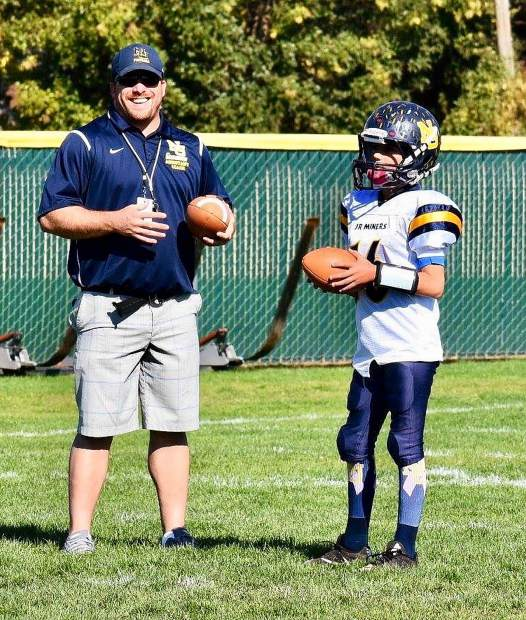 Joey Hart enjoys giving back to his community and volunteers his time coaching Nevada Union Jr. Miners football and the Goldmine Wrestling Club.