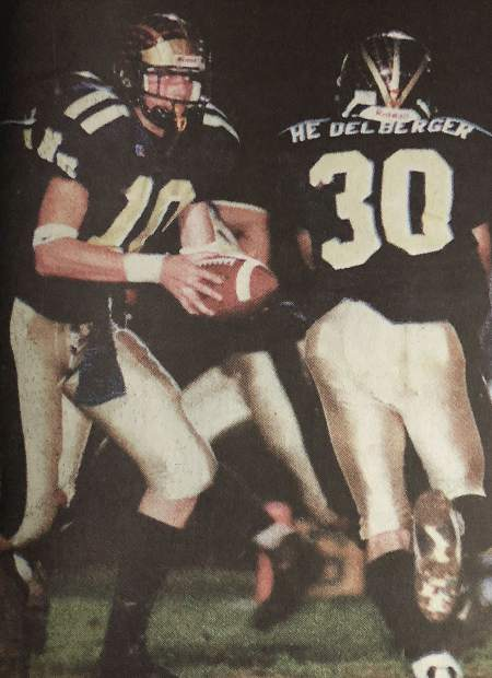 When it came to football NU grad Josh Roenicke (left) was a standout on both sides of the ball. As a defensive back he snagged 12 career interceptions, which ranks second in Nevada Union school history. He was an All-League First Team selection on defense his junior year. In his senior season, Roenicke took over as the starting quarterback and threw for an NU single-season record 26 touchdowns and 1,902 yards which ranks third all-time. He was the league MVP that year and led the Miners to their second straight Capital Athletic League title as well as a spot in the City Championship Game.