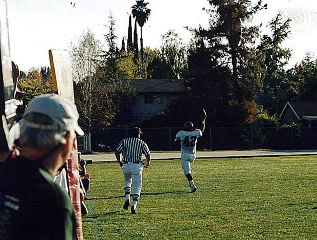 On the football field, Josh Van Matre (42) was a two-time captain on the varsity team, was the 1999 Capital Athletic League Defensive MVP, a two-time All-CAL First Team selection, an Optimist All-Star and the Miner's Jim Brown Award winner as the team MVP.