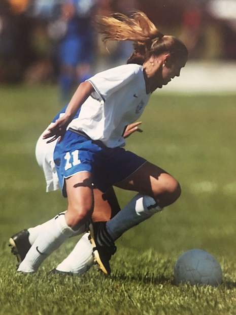 In addition to competing for the Nevada Union soccer team, Lauren (Zealear) Dolan was in the Olympic Development Soccer Program and played club soccer as well.
