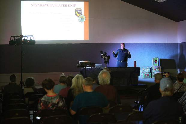 Cal Fire representatives were on hand giving information about the local fire departments and the local dangers of wildfire during the event.