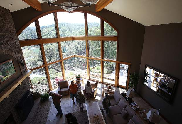 El Rincon Del Rio and its 14,00 square feet of exquisite architectural design over looking the Bear River was one of this year's home tour stops.