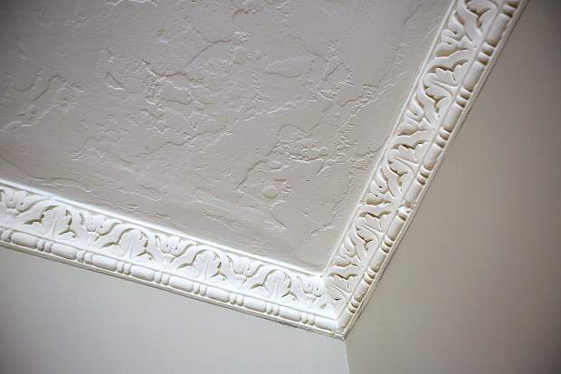Original late 1800s crown molding is still intact on this home on the tour on Richardson Street.