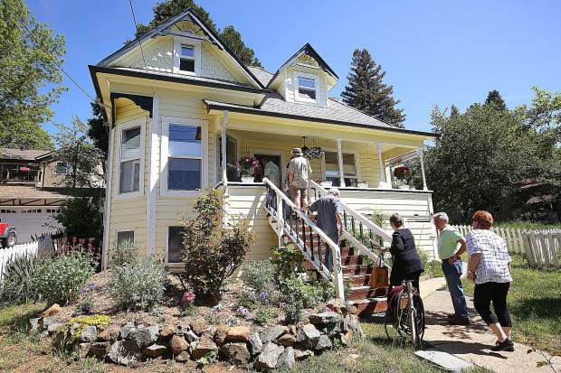 Folks walk up to 329 Bennett Street in Grass Valley during Saturday's Music in the Mountains annual home tour. In it's 36th year, five homes across western Nevada County were showcased by Music in the Mountains docents.