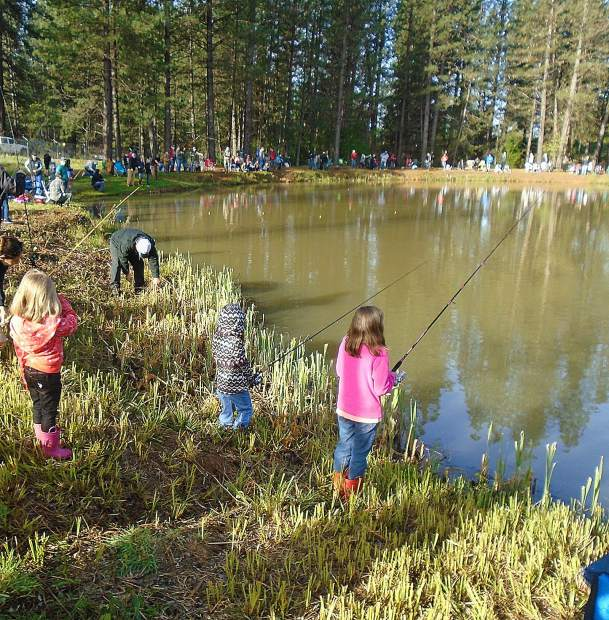 Hundreds of young anglers will descend on Lions Lake April 13 for the 47th Annual Trout Derby sponsored by the Grass Valley Sportsmen's Club.