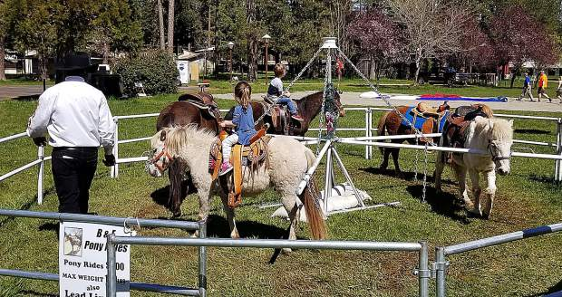 Children enjoyed riding furry ponies at The Union's Home, Garden, and Lifestyle Show. It was the first time pony rides were offered at the expo.