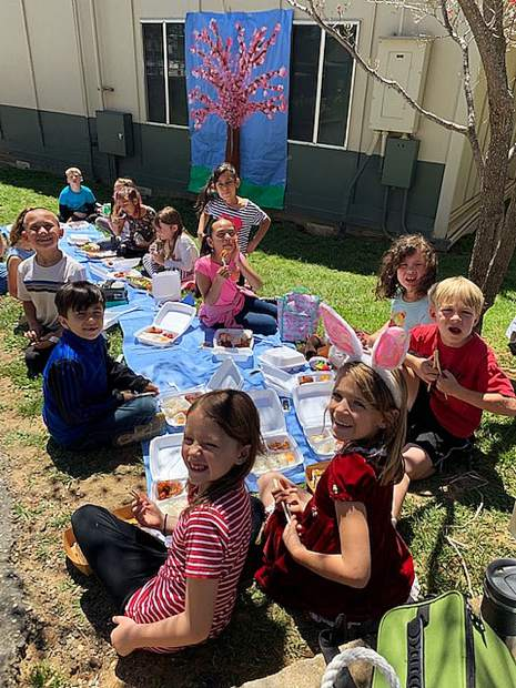 As part of its curriculum about Japanese culture, Melissa George's second-grade class at Bell Hill Academy enjoyed a traditional Japanese meal catered by the Royal Dragon restaurant.