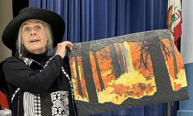"""Margaret Vodicka designed this """"Furious Forest Fire"""" quilt, which will be on display at the Pine Tree Quilt Guild's 35th annual show May 4-5 at the Nevada County Fairgrounds."""