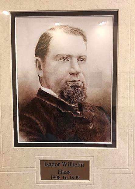 """The family of Grass Valley's official """"Town Crier,"""" Paul Haas, has served the town for generations. Paul's great-grandfather, Isador Wilhelm Haas, was Grass Valley Mayor in1908 and 1909."""