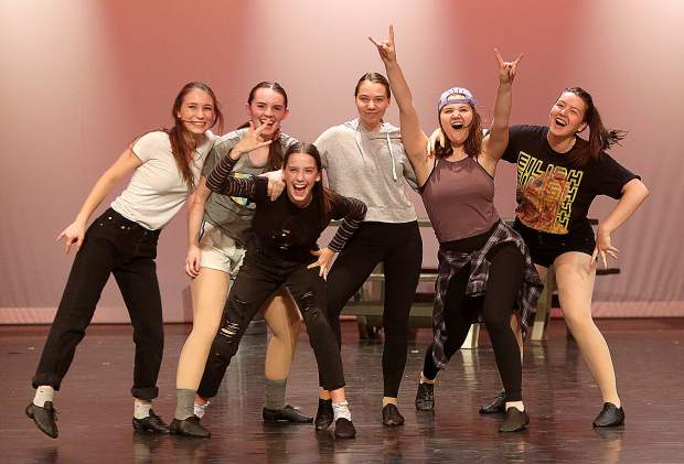 New York City professional dancer Jesse Beck taught ballet master classes to nearly 150 Nevada Union High School students for the On Broadway production showing now through May 4 at the Don Baggett Theatre.