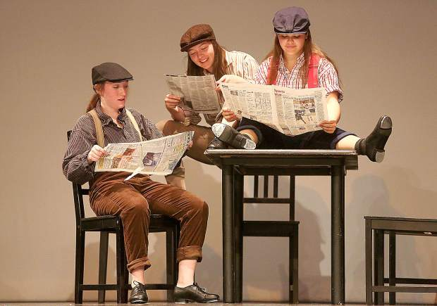 There is one student choreographed piece in the show, created by Nevada Union High School senior Nevada Wadman, who taught a dance class two days per week to 16 special education students who will perform a scene from Newsies.