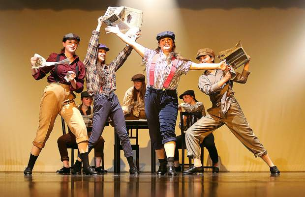 Nevada Union High School & Theatrical Dance Program students presents On Broadway tonight and Friday at 7 p.m., Saturday at 2 p.m., and May 3 and 4 at 7 p.m. in the Don Baggett Theatre at Nevada Union. The performance features scenes from various musicals including Newsies.