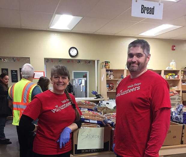 Wells Fargo employees, Laurie Austin and John Berryman, volunteered during last month's Food Access Saturday.  The Grass Valley branch of Wells Fargo has committed to helping out this great program on a monthly basis. Thanks to Wells Fargo and their great employees!