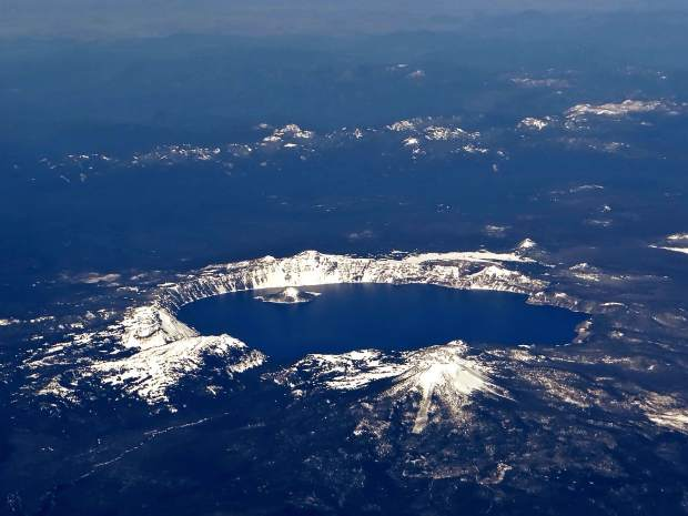 Crater Lake from the sky.