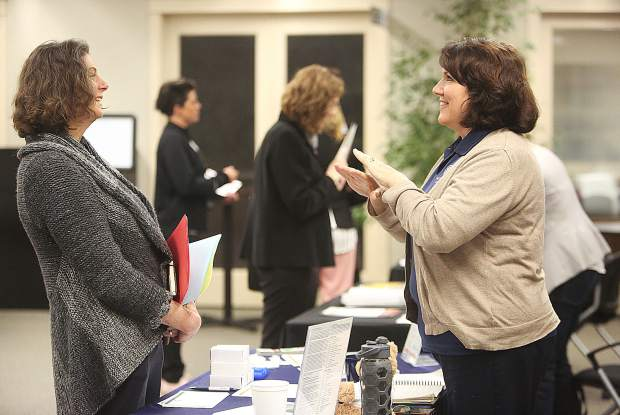 Representatives from Brandman University, and other post high school and post collegiate learning institutions, were on hand to help those that may be short in an educational requirement to find jobs during Saturday's Nevada County Schools job fair.
