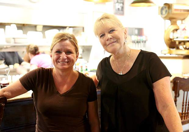 Paulette Rickard stands with head waitress Terri Britton, who has been a part of the restaurant for the entire 30 years of business.